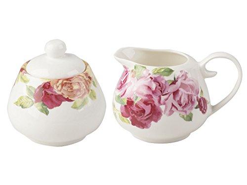 Kew Giardini Southbourne Rose zuccheriera e lattiera, Bianco