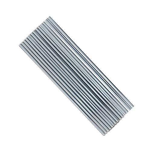 50 piezas de alambre de soldadura de aluminio de baja temperatura con núcleo de fundente 2mm * 500mm varilla de soldadura Al sin necesidad de polvo de soldadura