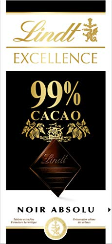 Lindt - Tablette 99% Cacao EXCELLENCE - Chocolat Noir - 50g