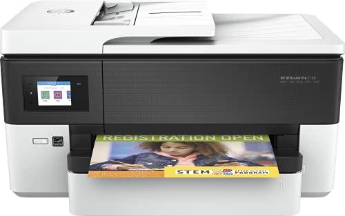 HP OfficeJet Pro 7720 Y0S18A, Impresora Multifunción Tinta de Formato Ancho A3/A4, Imprime, Escanea, Copia y Fax, Wi-Fi, Ethernet, USB 2.0, HP Smart App, Pantalla LCD Táctil, Blanca
