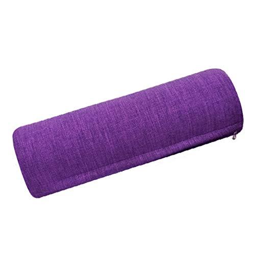 SFGSA Bolster Yoga para Yoga restaurativo y Apoyo Estable Accesorio para Ejercicios Color Morado Unisex Normal con Manija,Round