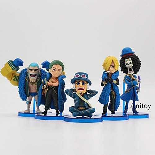 Anime One Piece Aniversario 20 Luffy Zoro Sanji Robin Nami Chopper Usopp Brook Franky Q Versión PVC Figura Juguetes 10pcs / Set, B