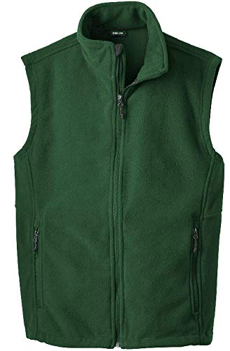 Joe's USA Men's Soft and Cozy Fleece Vest-XL-Forest Green