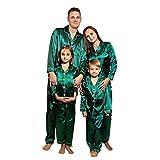Alueeu Pijamas de Navidad Familiar Dos PiezasCasual Ropa de Dormir Ropa de Casa Familia Sleepsuit Calientes Homewear Cálido Mameluco 2022 Pijamas de Año Nnuevo