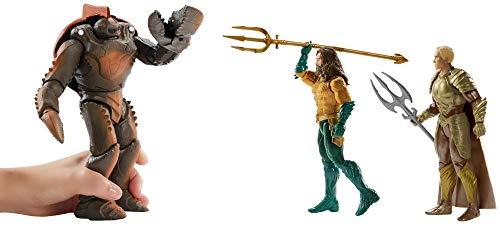 JUSTICE LEAGUE- Pack de 3 Figuras Aquaman, Multicolor, 15 cm (Mattel FWX38) 3