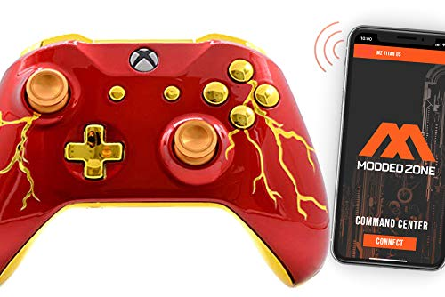 Red Thunder Smart Rapid Fire Custom Modded Controller for Xbox One S Mods FPS Games and More. Control and Simply Adjust Your mods via Your Phone!