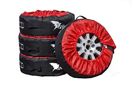 Blaqqbird Reifentaschen Set als praktische Autoreifen Schutzhülle - 4 Reifenschutzhüllen für Sommer- und Winterreifen - Reifenaufbewahrung mit Aussparung für Reifenbaum | 13