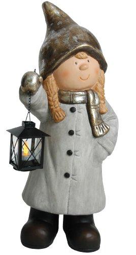 Naeve leuchten greta avec lanterne 54.7 x 25,5 x 19,5 cm-matière: carton-plâtre 5096216 gris