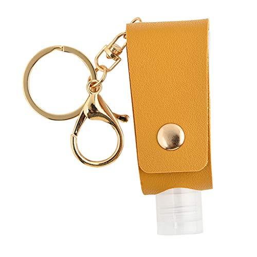 HOTPINK1 Llavero vacía rellenable de piel sintética de 30 ml para bolsa de viaje