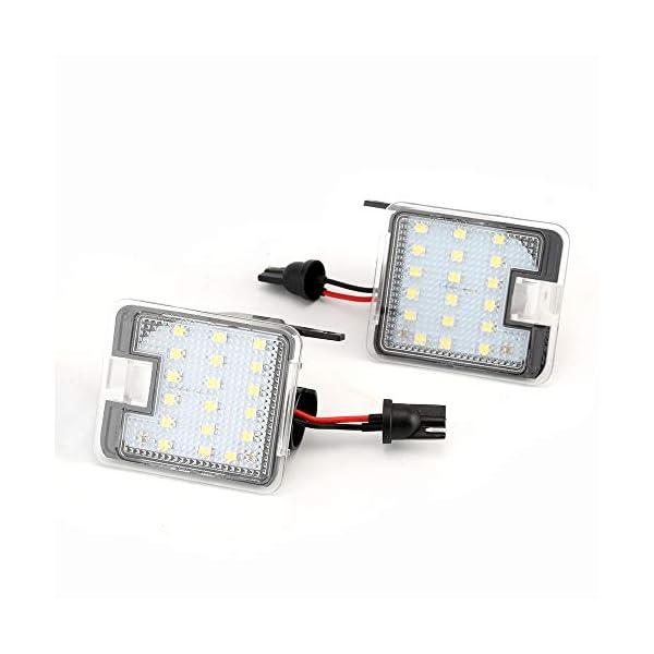 2x-TOP-LED-XENON-Umfeldbeleuchtung-Aussenspiegel-Leuchte-Umgebungslicht-WEI-7908