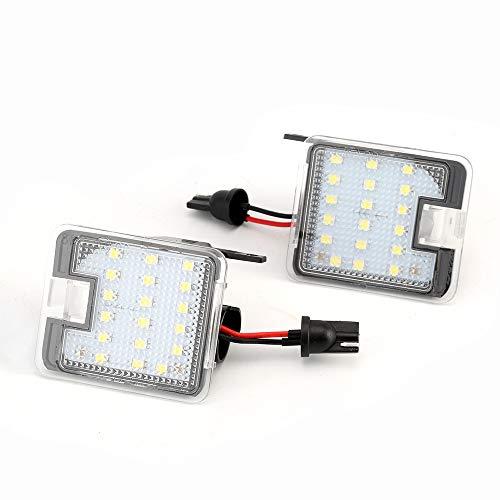 2x TOP LED XENON Umfeldbeleuchtung Aussenspiegel Leuchte Umgebungslicht WEIß (7908))