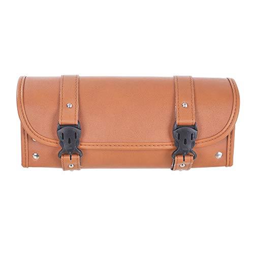 Motorcycle Bags, Saddlebags with PU Leather Shell, Brown Handlebar Bag