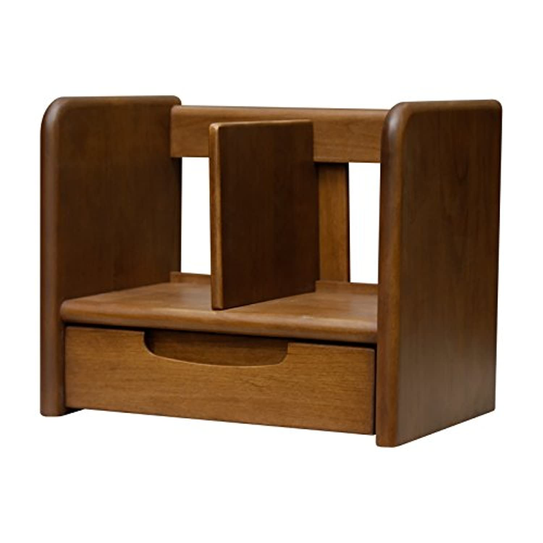 ISSEIKI ブックスタンド 幅35 ブラウン 木製 ERIS KIDS 35 BOOK STAND (NBR)