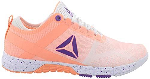 Reebok Women's Crossfit Grace TR Cross Training Shoe, White/Sunglow/Grape Punch, 8 M US