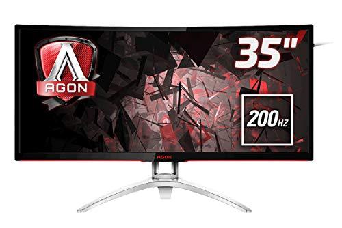 "AOC AGON AG352QCX Monitor Gaming da 35"" Curvo, WFHD, 2560 x 1080, 200 Hz, 4 msec, Speaker, D-Sub, HDMI, DP, 2 Porte USB, Nero"
