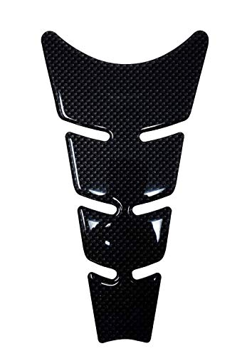 Quattroerre Protection Réservoir Adhésive 3D pour Motos Slim, Carbone, 20,5 x 11,5 cm