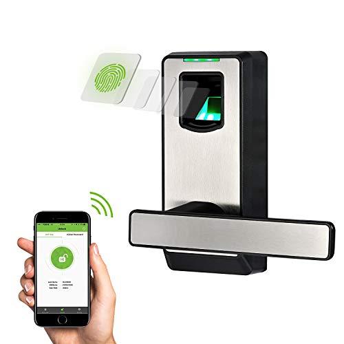ZKTeco Biometric Door Lock Fingerprint Lock with Bluetooth, Keyless Entry Door Lock with Smart...