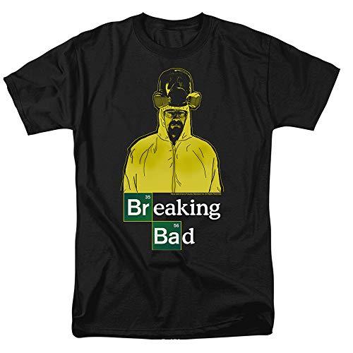 Popfunk Breaking Bad Heisenberg Hazmat T Shirt & Stickers (Large) Black