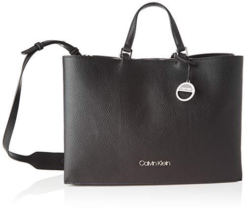 Calvin Klein Sided Tote Lg - Borse Donna, Nero (Black), 1x1x1 cm (W x H L)
