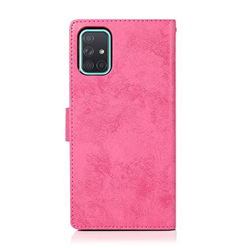 Cubierta protectora Para Samsung Galaxy A71 Funda de teléfono móvil, 2 en 1 caja de teléfono móvil magnético de la PU Caja de teléfono retro del teléfono móvil, adecuado para la caja del teléfono Sams
