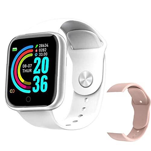 nJiaMe Inteligente Impermeable de los Relojes Bluetooth Y68 Inteligente Pulsera rastreador de Ejercicios con el Repuesto de la presión Arterial de la Correa de frecuencia cardíaca Prueba Blanca