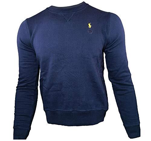 Ralph Lauren Herren Rundhals Pullover Vintage (Navy, L)