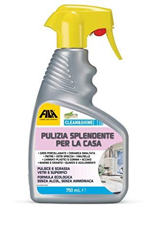 FILA Surface Care Solutions CLEAN&SHINE, Detergente Spray Multisuperficie per la Casa, 750 ml