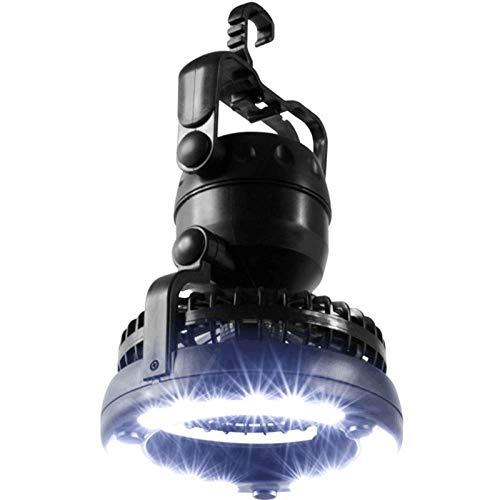 2 en 1 Portable LED lumière de Camping avec Ventilateur de Plafond, 360 Degrés Résistant à l'eau Haut Brillant éclairage Lumière d'urgence pour Randonnée Camping Pêche Voyage Tente