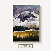 XKHSD 北欧風景サンライズサンセットキャンバス絵画ポスターとプリントウォールアート写真用リビングルーム寝室通路ユニークな装飾なしフレーム