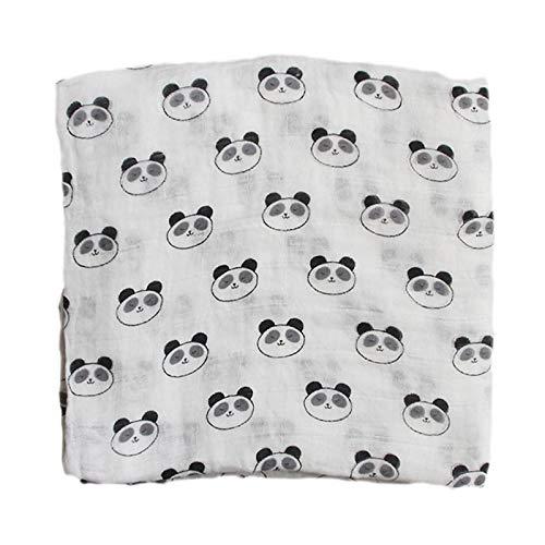 Manta de algodón para bebé 120 * 120 cm, Mantas Suaves para recién Nacidos, 2 Capas, Gasa de baño, Envoltura para bebé, Saco de Dormir, Funda para Cochecito