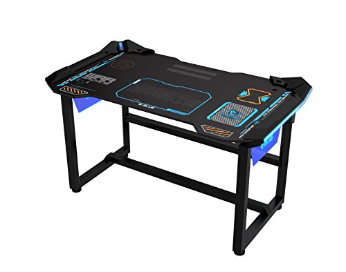 E-Blue USA Wireless Glowing LED PC eSports Gaming Desk Table Large EGT515 (Office Product)
