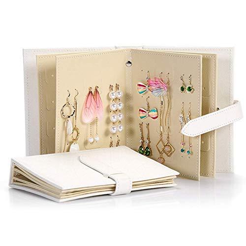 QuXiaoMo Ohrring Stehen Ohrring Ohrring Aufbewahrungsbox Buch Schmuck Vitrine tragbaren Reiseschmuck Rolls Royce Geschenk Mädchen Mädchen weiß