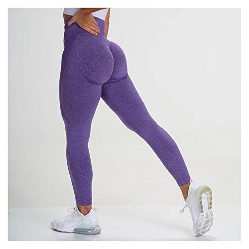 QWERBAM Entrenamiento Gimnasio Legging Pantalones Sin Fisuras Pantalones Deportivos Butt Booty Pantalón Pantalón Pantalón Pantalón Alto Cintura Fitness Yoga (Color : Yoga Leggings 5, Size : XL.)