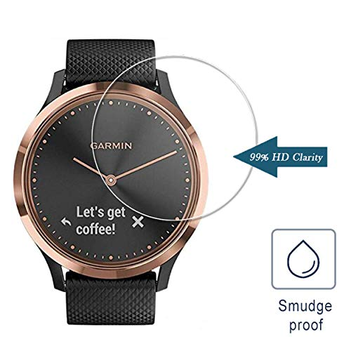 Screen-Protector-Compatible-with-Garmin-Vivomove-HR-3-Pack-Tempered-Glass-25D-9H-Hardness-Anti-Scratch-Full-Coverage-Bubble-Free-Watch-Protective-Film
