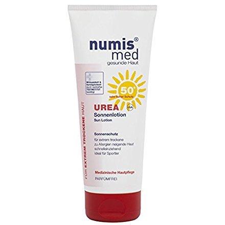 numis med Sonnenlotion / Sonnenmilch - Creme / sonnenschutz mit UREA LSF 50+ / 200ml