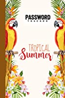 """Password Tracker: Password Book, Password Log Book and Internet Password Organizer, Logbook To Protect Usernames, 120 Pages, Size 6"""" x 9"""" Parrot Bird Cover by Alois Schreiner"""