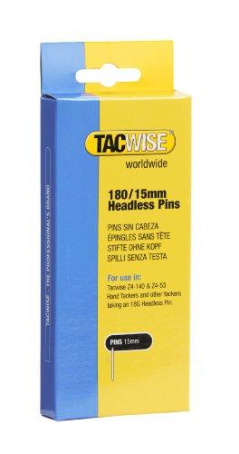 TACWISE 0478 Clavos sin cabeza de tipo 180/15 mm, Plateado