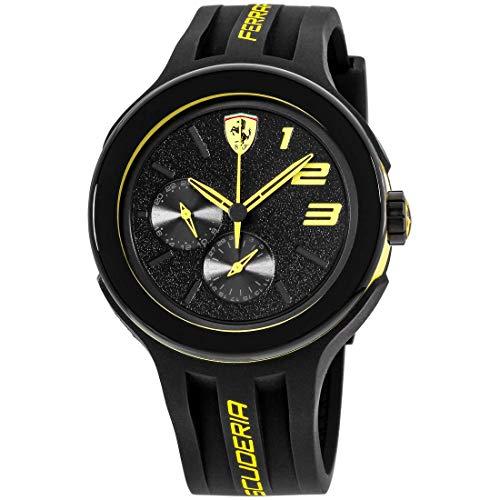 Price comparison product image Ferrari Men's 830224 FXX Yellow-Accented Black Watch