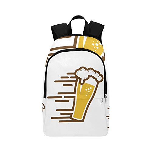 WSNWCY Computer Backpack for Women Beer Drink Party Celebration Supply Durable Water Resistant Classic Best Packable Daypack School Bag Tote College Golf Bags for Men Travel School Bag