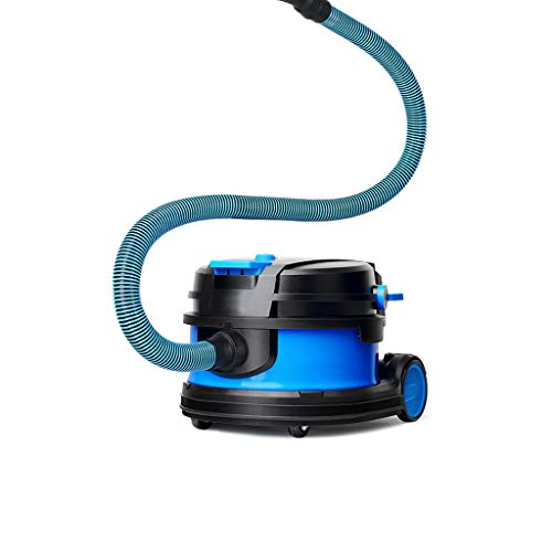 Huishoudelijke stofzuiger/droogzuiger, botsingsbehuizing, groot zuigvermogen 23 kpa, stofzak 10 l, stil, drievoudig, geschikt voor huis/bedrijf (zwart, blauw)