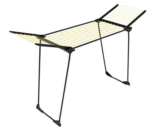 CASASI Wäscheständer Winner 18 m - mit praktischen Rollen - Farbe grau