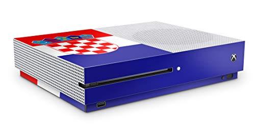 Design Aufkleber Skin Vinyl Schutzfolie kopatibel mit Xbox One S Kroatien