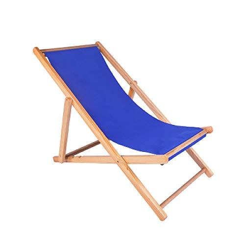 ZYLZL Sillas de playa, tumbona, silla Siesta, plegable, portátil, madera, para jardín, arena, playa, balcón, salón, 100 kg