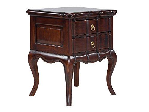 massivum Beistelltisch Cambridge 50x60x45 cm Hartholz braun lackiert