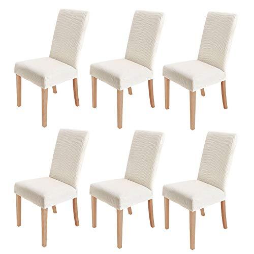 sorliva Stuhlhussen Stretch 6er Set Abnehmbarer waschbarer Stuhlbezug für das Esszimmer Moderne elastische Stuhlschutzdekoration für Büro...