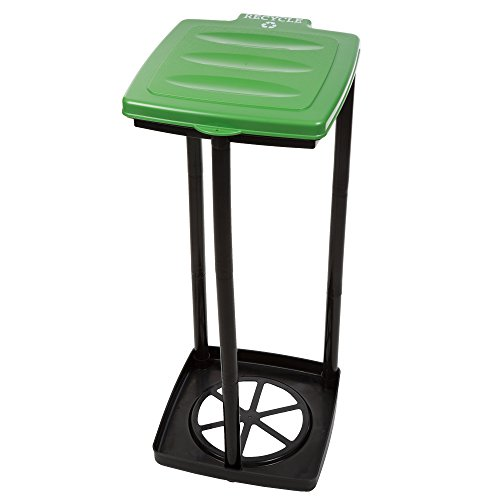 Wakeman Portable Trash Bag Holder- Collapsible Trashcan for Garbage and Indoor/Outdoor Use Outdoors -Ideal for Camping Recycling and More (Green)
