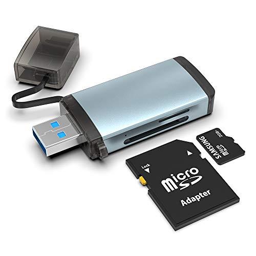 SD-Kartenleser, Rocketek USB C USB 3.0-Speicher Kartenleser, Geeignet Für SDXC-, SDHC-, SD-, MMC-, RS-MMC-, Micro-SD-, Micro-SDHC-Karten und Samsung, Android-Smartphones, MacBook, Huawei, Sony , LG