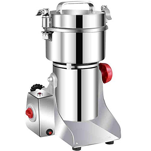 Adima 700G Electric Grain Grinder Mill 304 Stainless Steel High-Speed Cereal Spice Herb Pulverizer Powder Machine, Best Gift for Mom, Wife(3200W)