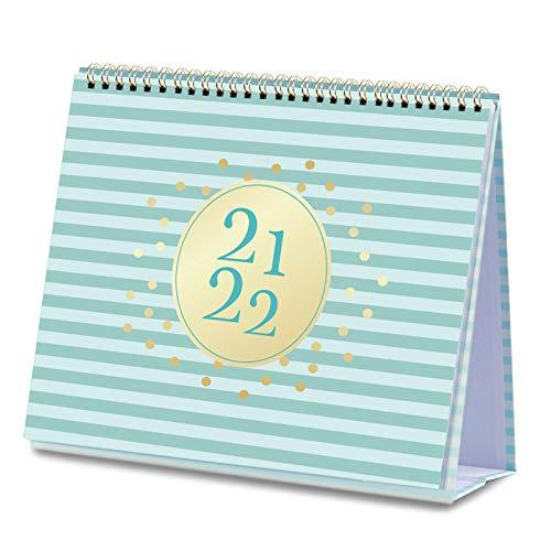 2021-2022 Desk Calendar - Standing Flip Calendar from Jul 2021 - Dec 2022, 10.5' x 10.25', Desk/Wall Calendar with to-do List & 2 Pockets, Unruled Blocks