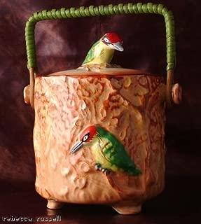 Falcon Ware Art Deco Biscuit Barrel Woodpecker 5176